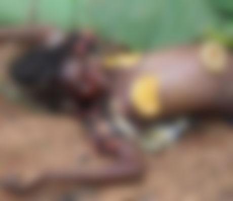 ◆儀式のために、両乳房を切り取られて殺された女性の遺体