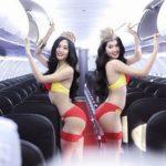◆CAをビキニにして踊らせ、自社の大宣伝をした航空会社