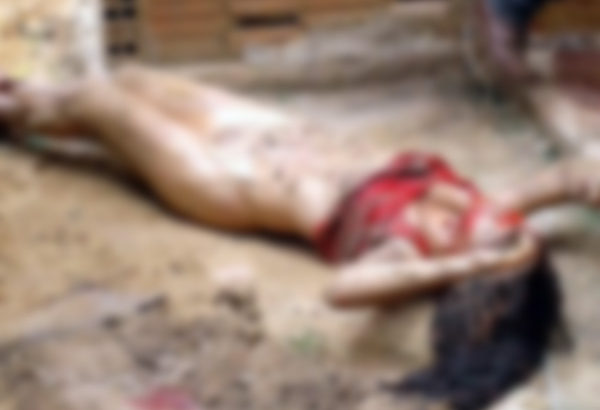 ◆レイプされて喉を掻き切られて殺される少女とめった刺しされる男の世界